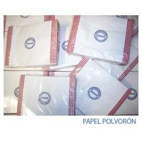 Formatos de papel para polvorón