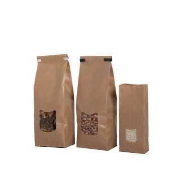 Bolsas de papel kraft con ventana. Sellables