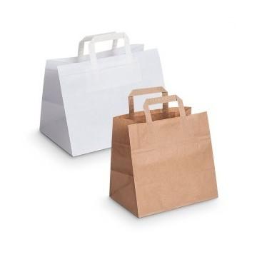 Bolsas de papel de base ancha para pastelería y take away